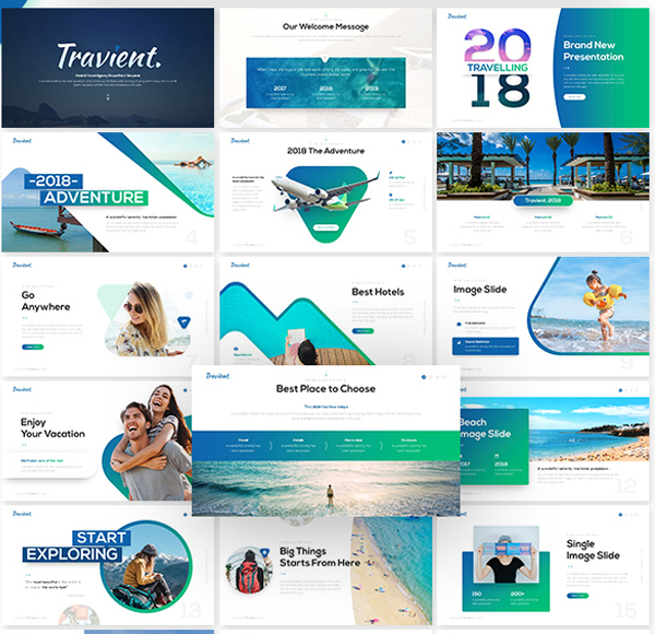 Hotel & Travel Agency PowerPoint Template