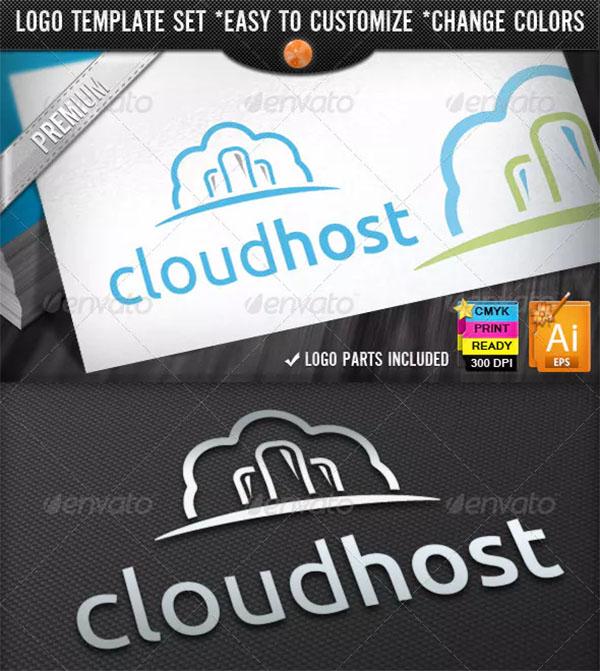 IT Business Computing Cloud Hosting Logo Designs