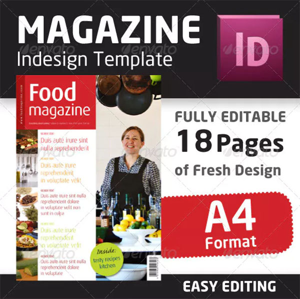 Indesign Food Magazine Template