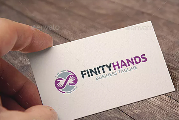 Infinity Hands Logo Template