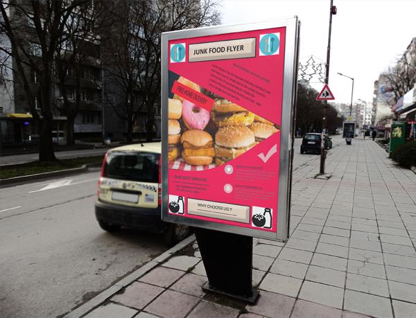 Junk Food Flyer Template