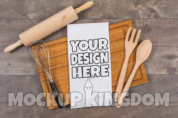 Kitchen Towel Mockup Design