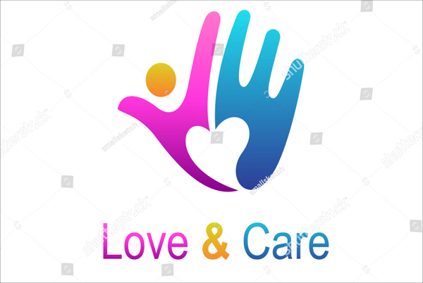 Love and Care Logo Template