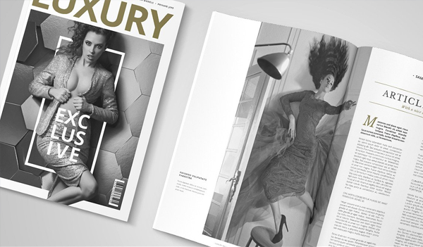 Luxury Women Fashion Magazine InDesign Template
