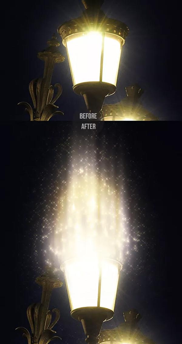 Magic Sparkles Action for Photoshop