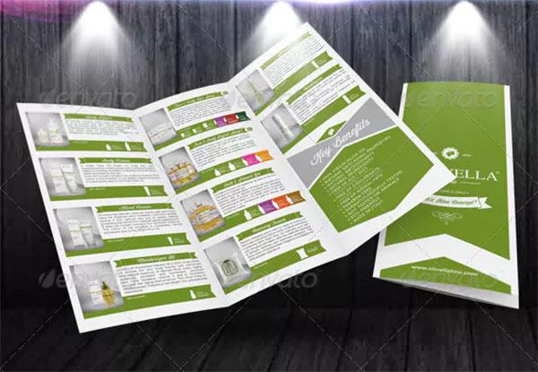 Marketing Retro Trifold Brochure