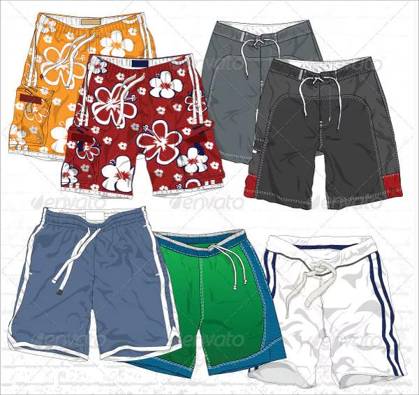 Men's Board Shorts Mock-Ups
