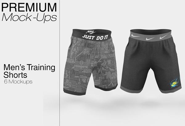 Men's Training Shorts Mockup