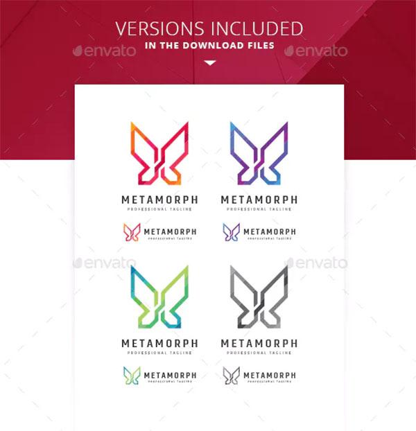 Metamorphosis Butterfly Logo