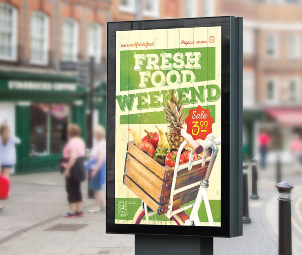 Organic Food Flyer & Poster Template