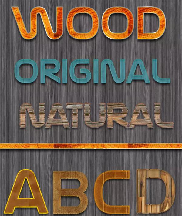 Original Wood Text Styles
