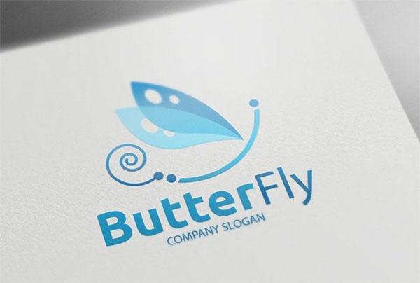 PSD Butterfly Logo Template