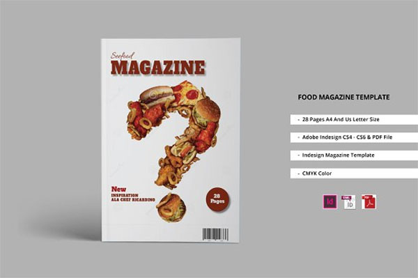 PSD Food Magazine Template