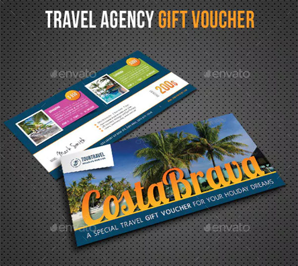 PSD Travel Agency Gift Voucher Template