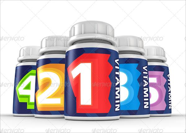 Pill Bottles Mock-up Template
