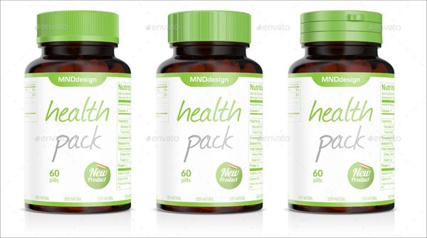 Pills Bottle Mockup Photoshop Template