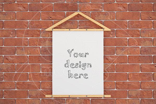 Poster Mockup 8 x 10 Brick Wall