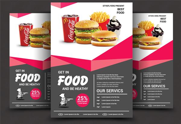 Printable Food Flyer Design