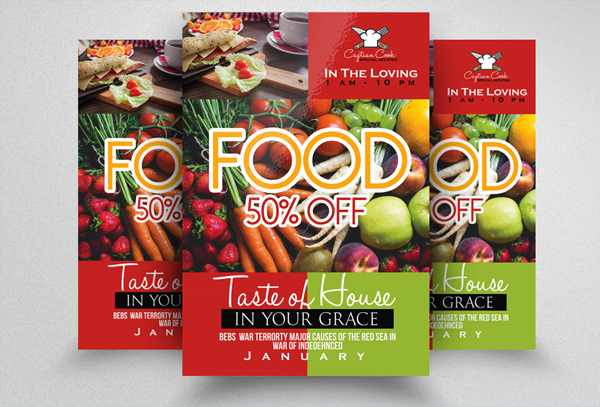Professional Food Flyer Template