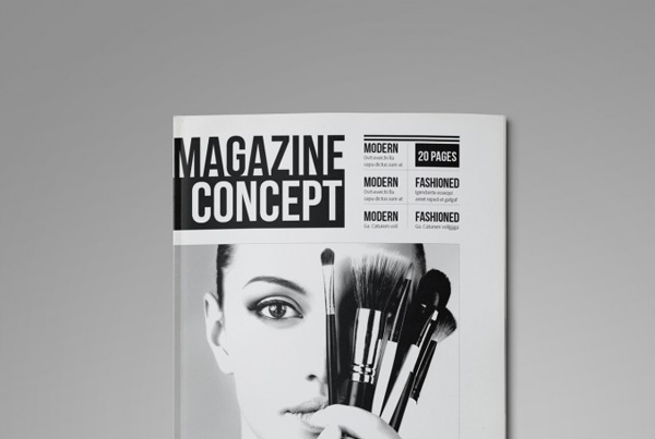 Professional and Clean InDesign Magazine Template