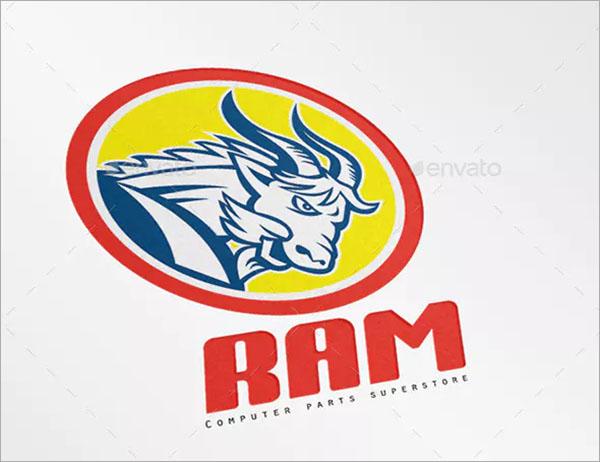 Ram Computer Parts Logo Template