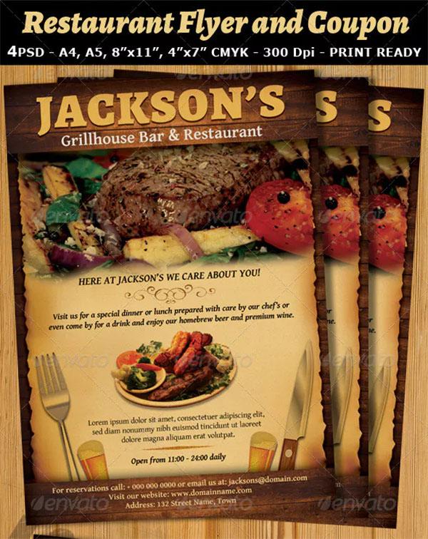 Restaurant and Bar Magazine Template