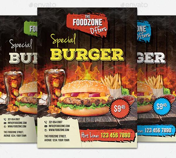 Restaurants Promotion Flyer Template