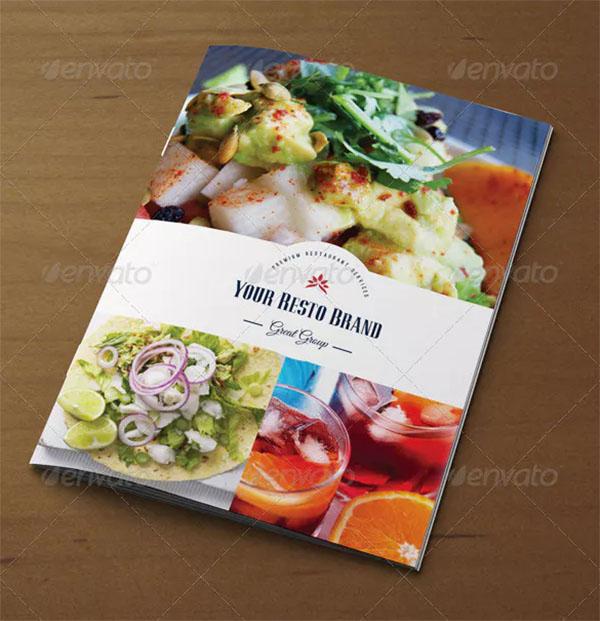 Retro Food Menu Brochure Template