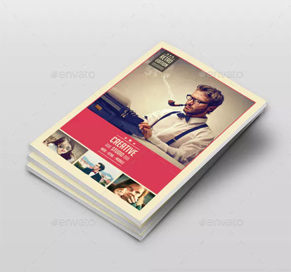 Retro Style Indesign Newsletter Template