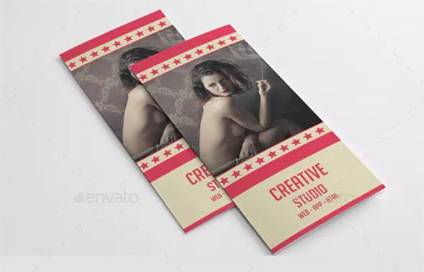 Retro Style Trifold Brochure Template