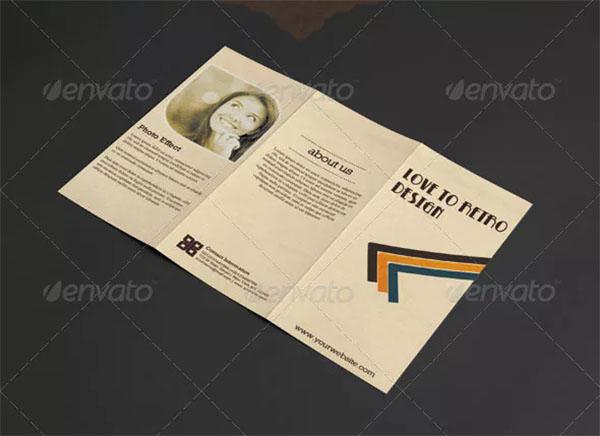 Retro Trifold Brochure Template