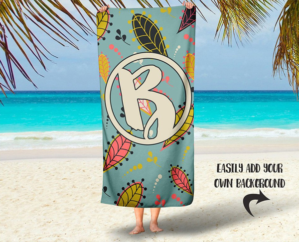 Simple Beach Towel Mockup