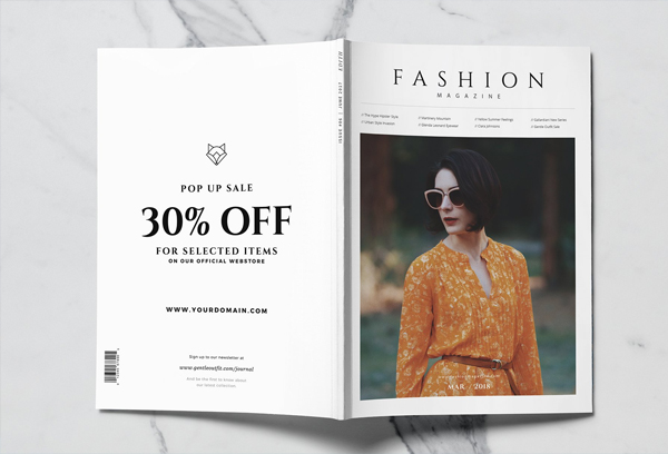 Simple and Unique Women Fashion Magazine Cover Template
