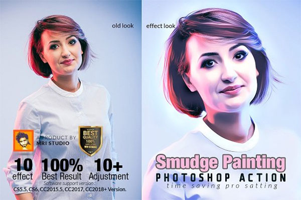 Smudge Painting Photoshop Action