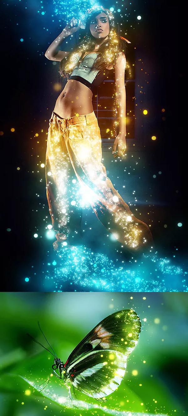 Stunning Sparkle Photoshop Action