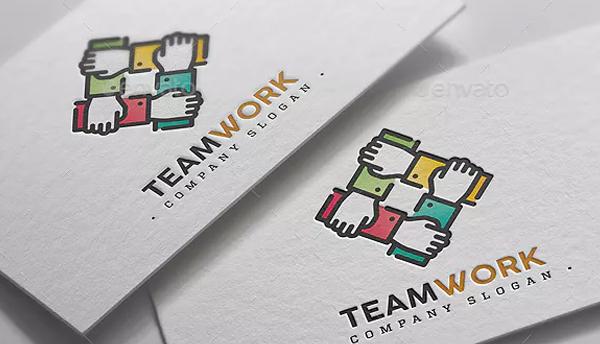 Team Work Hands Logo