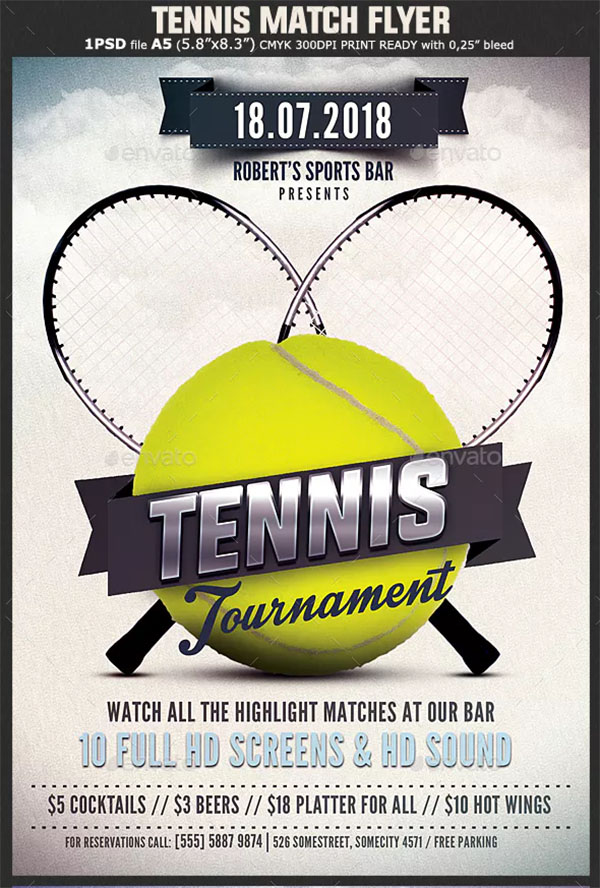 Printable Tennis Flyer Templates