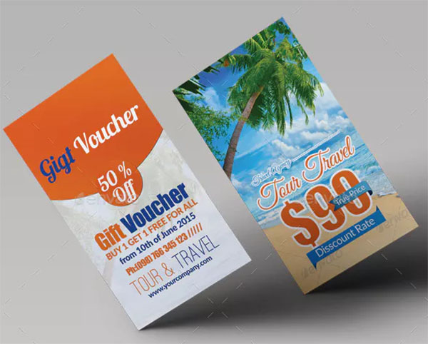 Tour Travel Gift Voucher Template Cards