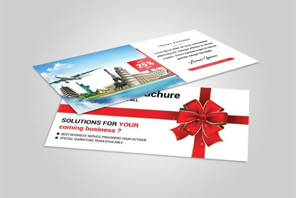 Travel Gift Voucher Design Template