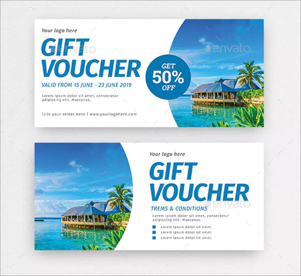 Travel Gift Voucher Templates