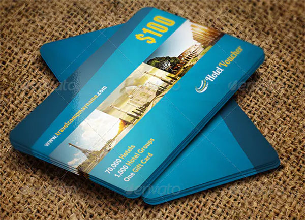 Travel Hotel Gift Voucher Card