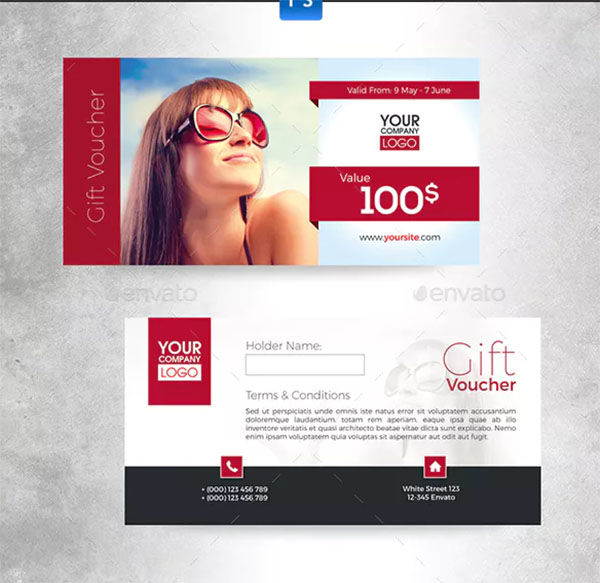 Travel Summer Holiday Gift Voucher Template