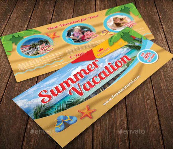 Travel Summer Vacation Gift Voucher