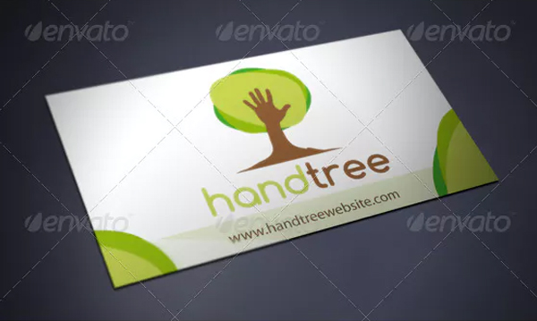 Tree Hand Logo Template