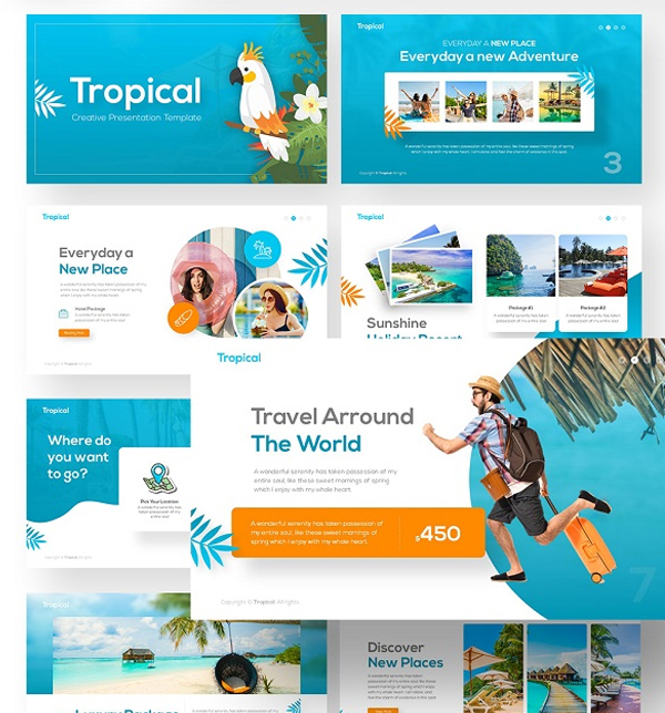 Tropical Travel Presentation Template