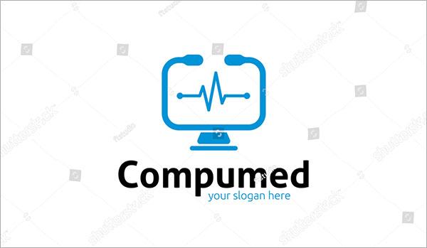 Vector Computer Logo Template Design