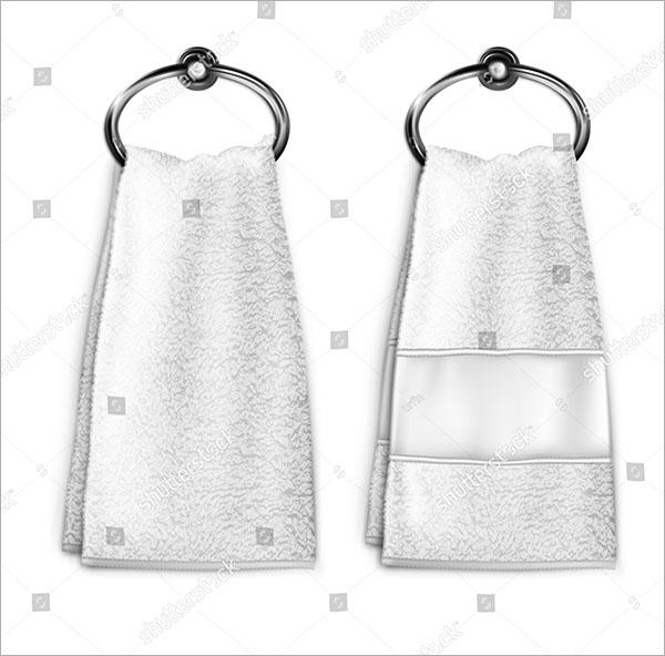 Vector White Towel MockUp