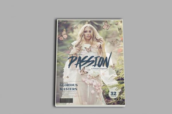 Women Fashion Magazine Cover Design Template