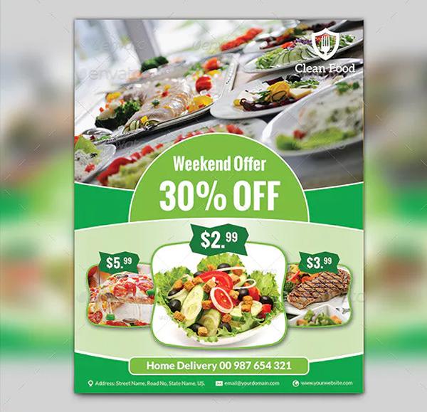 Weekend Food Flyer Template