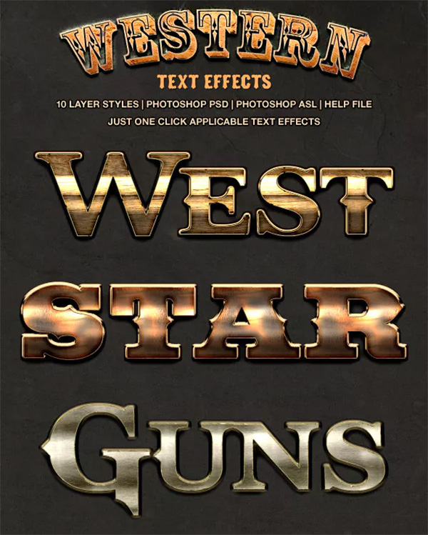 Wild West Style Text Effects